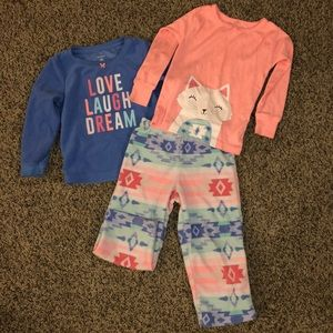 Carters 3-piece pajamas